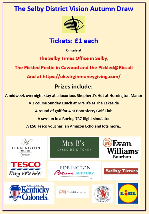 The Selby District Vision Autumn Draw information